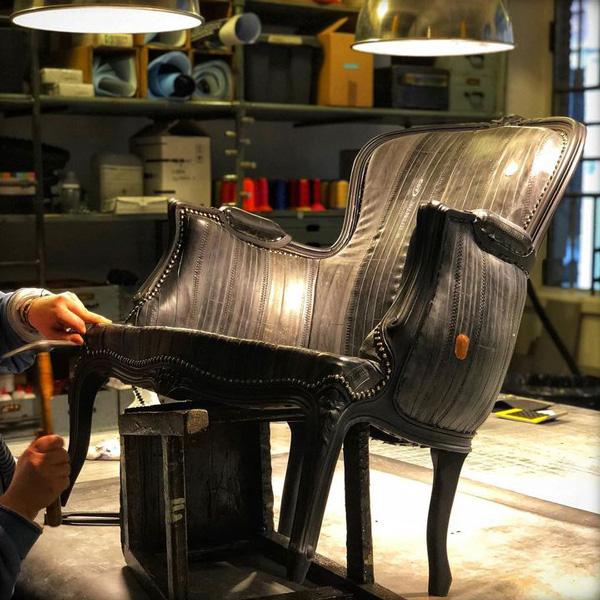 fauteuil en chambre à air